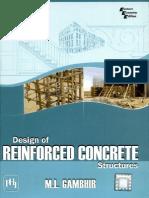 Design of Reinforced Concrete Structures m.l Gambhir 2008