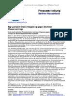 Pressemitteilung vom Berliner Wassertisch vom 4. April 2013