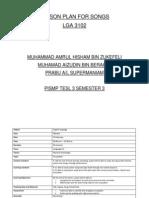 Lesson Plan for Songs-lga3102(Amrul,Juden,Prabu)