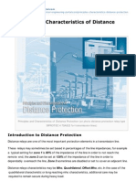 Principles and Characteristics of Distance Protection