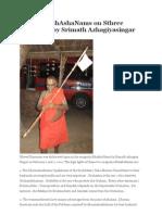 Anugraha BhAshaNams on Sthree Dharmam by Srimath Azhagiyasingar (46th pattam) from anudinam.org