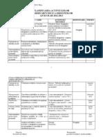 Planificarea Activitatilor Comisiei Dirigintilor