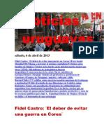 Noticias Uruguayas sábado 6 de abril del 2013
