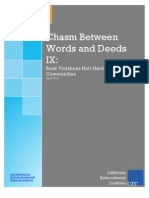 Chasm Bw Words and Deeds IX Final Report