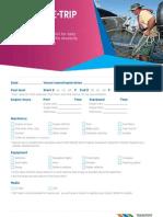 Vessel Pre Trip Checklist