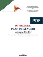 INI PIZZA SRL - Plan de Afaceri
