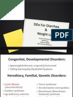 DDx For Diarrhea & Weight Loss