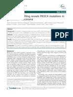 Mutational Profiling Reveals PIK3CA Mutations in CVB 2011