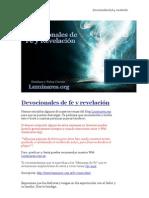 Devocionales de Fe y Revelacion (Www.avanzaPorMas.com)