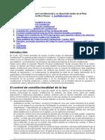 Derecho Procesal Constitucional y Su Tardio Desarrollo en El Peru