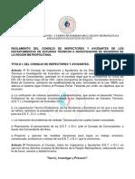 REGLAMENTO CONSEJO DE INSPECTORES DE LOS DEPARTAMENTOS DE ESTUDIOS TÉCNICOS E INVESTIGACION DE INCENDIOS DE LA REGIÓN METROPOLITANA