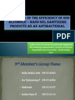 Evaluation of the Efficiency of Non Alcoholic-Hand gel sanitizers Products as an Antibacterial