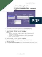 PA01-14 Set Up Budgetary Controls