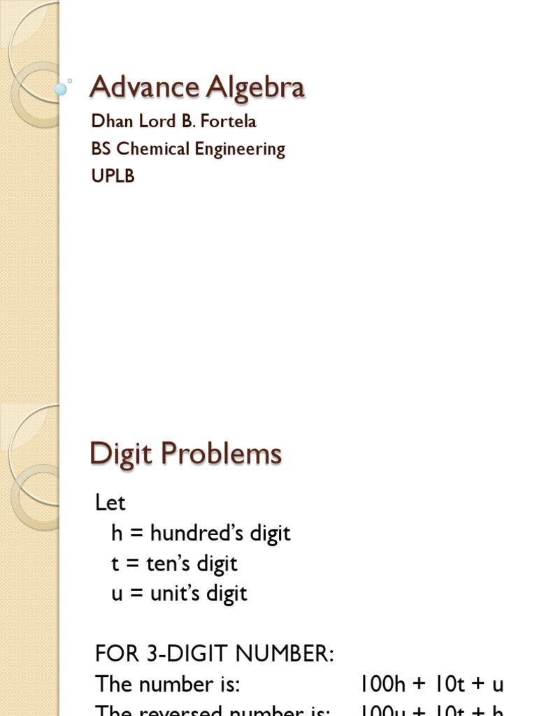 Advance Algebra Review pdf | Salt | Física y matemáticas
