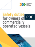 Safety Duties Commercially Operated Vessels