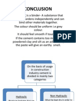 Cement Conclusion