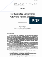 The Restorative Environment: Nature and Human Experience