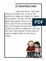 Student Conversation Cards