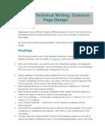 Common Page Design