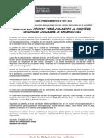 06.04.13 MINISTRO DEL INTERIOR TOMÓ JURAMENTO AL COMITÉ DE SEGURIDAD CIUDADANA DE ANDAHUAYLAS