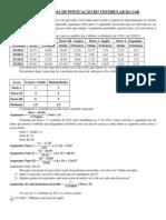 Palestra - Sistema de Pontuação - UnB - Versão - 2013-1