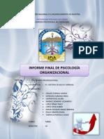 INFORME FINAL PSICOLOGÍA ORGANIZACIONAL leito