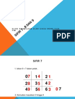 slide Sifir 7 , 8 dan 9