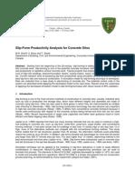Slip-Form Productivity Analysis for Concrete Silos