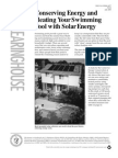 Conserving Energy and Heating Your Swimming Pool With Solar Energy