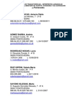 Lista de Traductores en Pontevedra