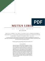 [Alchimie] Altus - Mutus Liber