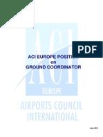 ACI EUROPE Position on Ground Coordinator Concept