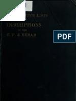 Desc List of CP and Berar