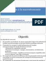 Initiation à la macroéconomie cours 1