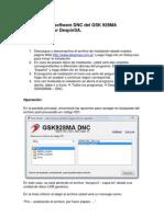 Operación del software DNC del GSK 928MA