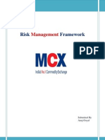 Risk Management Framework for MCX  ( stock exchange )