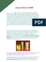 Baterías de NiCd y NiMH