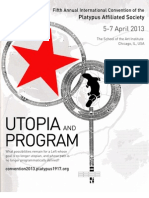 2013 Platypus International Convention Utopia and Program