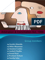 Group+7+ +Arbitration+&+Conciliation+Act,+1996