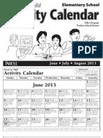 summer calendar elem eng