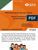 Politica Nacional de Educacion Especial