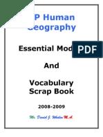 AP Human Geography Cram Packet
