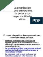 La organización como ente político, de poder