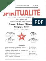 SPIRITUALITÉ « Etre Libre » N° 58-59 (Septembre-Octobre 1949)