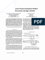 Decision-directed Channel Estimation Method for OFDM systems with high velocities