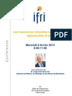 IFRI_programmeconferenceminesmauritanie