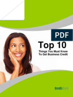 Business Credit Top 10 To Dos