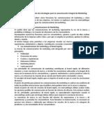 Diseño y administración de estrategias para la comunicación integral de Marketing