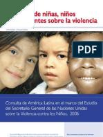 Voces Niños_as Am Latina sobre la Violencia