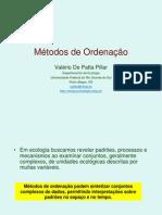 Uso da ordenação em dados ecológicos